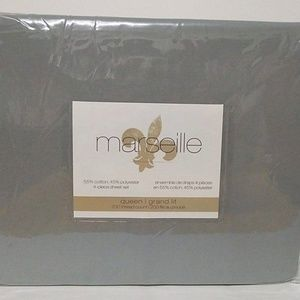 Marseille Queen Size 4-piece sheet set - Gray